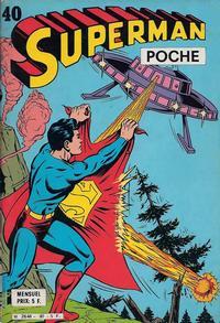 Cover Thumbnail for Superman Poche (Sage - Sagédition, 1976 series) #40