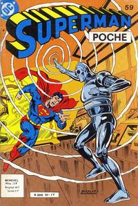 Cover Thumbnail for Superman Poche (Sage - Sagédition, 1976 series) #59