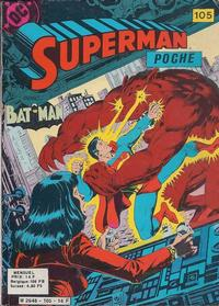Cover Thumbnail for Superman Poche (Sage - Sagédition, 1976 series) #105