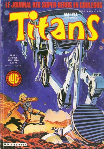 Cover for Titans (Editions Lug, 1976 series) #52