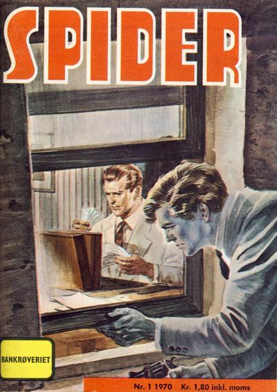 Cover for Spider (Serieforlaget / Se-Bladene / Stabenfeldt, 1968 series) #1/1970