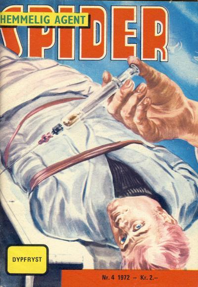 Cover for Spider (Serieforlaget / Se-Bladene / Stabenfeldt, 1968 series) #4/1972