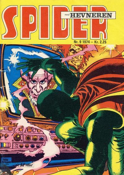 Cover for Spider (Serieforlaget / Se-Bladene / Stabenfeldt, 1968 series) #9/1974