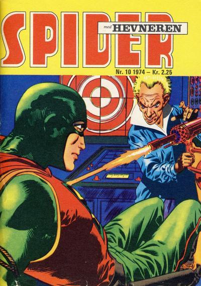 Cover for Spider (Serieforlaget / Se-Bladene / Stabenfeldt, 1968 series) #10/1974