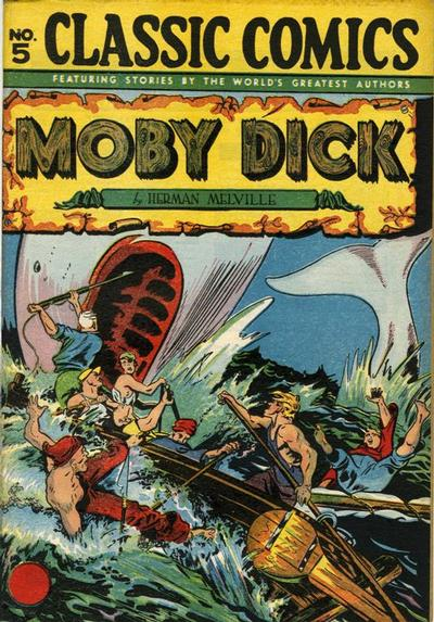 Cover for Classic Comics (Gilberton, 1941 series) #5 - Moby Dick [HRN 28]