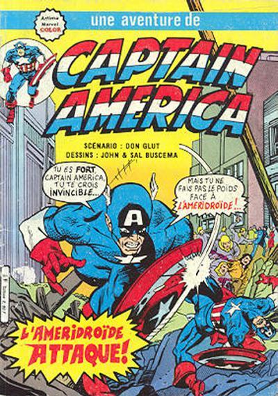 Cover for Captain America (Arédit-Artima, 1979 series) #20