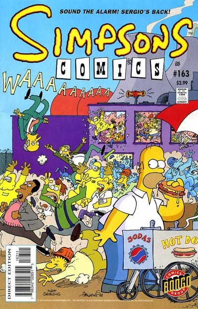 Cover for Simpsons Comics (Bongo, 1993 series) #163