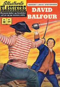 Cover Thumbnail for Illustrerte Klassikere [Classics Illustrated] (Illustrerte Klassikere / Williams Forlag, 1957 series) #58 - David Balfour