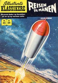 Cover Thumbnail for Illustrerte Klassikere [Classics Illustrated] (Illustrerte Klassikere / Williams Forlag, 1957 series) #65 - Reisen til månen [1. opplag]