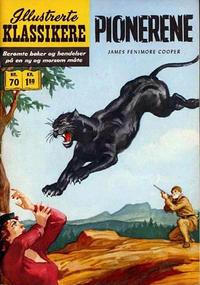 Cover Thumbnail for Illustrerte Klassikere [Classics Illustrated] (Illustrerte Klassikere / Williams Forlag, 1957 series) #70 - Pionerene [1. opplag]