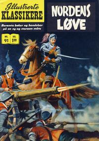 Cover Thumbnail for Illustrerte Klassikere [Classics Illustrated] (Illustrerte Klassikere / Williams Forlag, 1957 series) #91 - Nordens løve