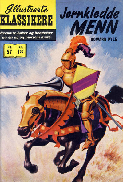 Cover for Illustrerte Klassikere [Classics Illustrated] (Illustrerte Klassikere / Williams Forlag, 1957 series) #57 - Jernkledde menn [1. opplag]