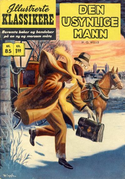 Cover for Illustrerte Klassikere [Classics Illustrated] (Illustrerte Klassikere / Williams Forlag, 1957 series) #85 - Den usynlige mann [3. opplag]