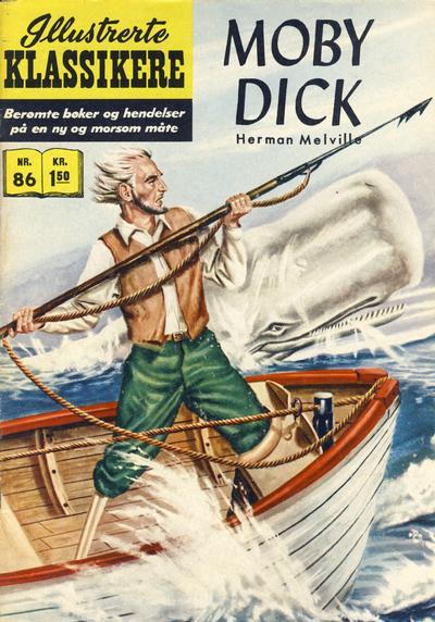 Cover for Illustrerte Klassikere [Classics Illustrated] (Illustrerte Klassikere / Williams Forlag, 1957 series) #86 - Moby Dick [1. opplag]