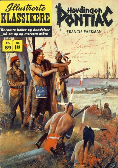 Cover for Illustrerte Klassikere [Classics Illustrated] (Illustrerte Klassikere / Williams Forlag, 1957 series) #89 - Høvdingen Pontiac [1. opplag]