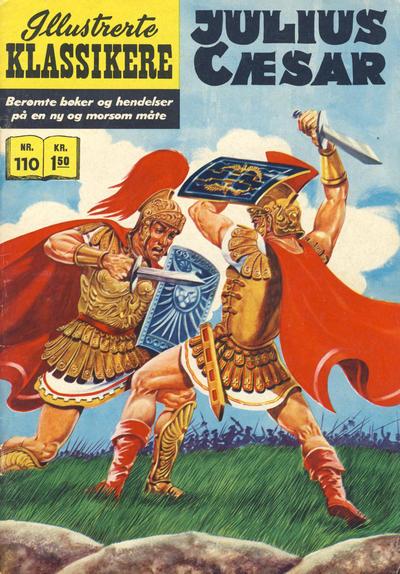 Cover for Illustrerte Klassikere [Classics Illustrated] (Illustrerte Klassikere / Williams Forlag, 1957 series) #110 - Julius Cæsar
