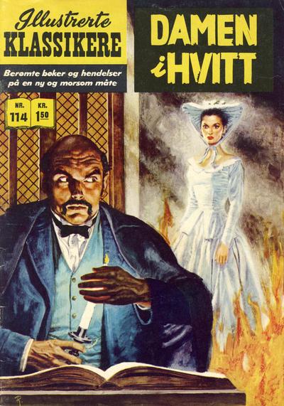 Cover for Illustrerte Klassikere [Classics Illustrated] (Illustrerte Klassikere / Williams Forlag, 1957 series) #114 - Damen i hvitt