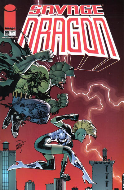 Cover for Savage Dragon (Image, 1993 series) #55