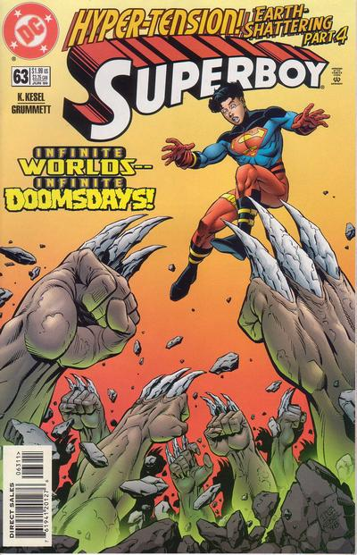 Cover for Superboy (DC, 1994 series) #63 [Direct Sales]
