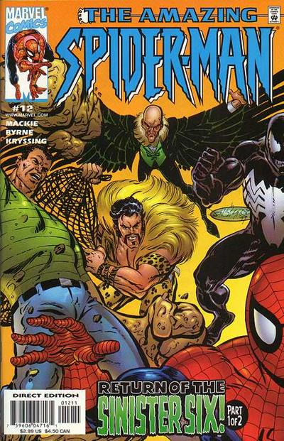 Cover for The Amazing Spider-Man (Marvel, 1999 series) #12 [Direct Edition]