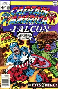 Cover Thumbnail for Captain America (Marvel, 1968 series) #212 [35 cent cover price variant (without a brand)]