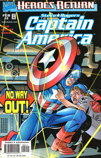 Cover Thumbnail for Captain America (Marvel, 1998 series) #2 [Direct Edition]