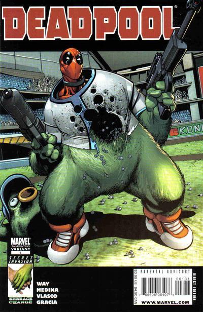 Cover for Deadpool (Marvel, 2008 series) #1 [Crain Cover]