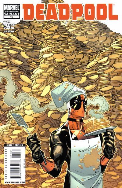 Cover for Deadpool (Marvel, 2008 series) #16 [2nd Print Variant]