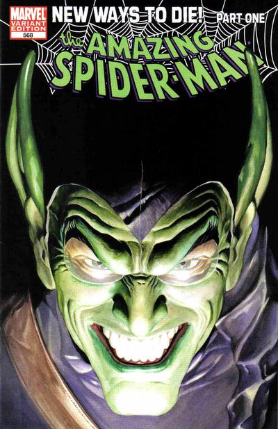 Cover for The Amazing Spider-Man (Marvel, 1999 series) #568 [Dynamic Forces Negative Art Alex Ross Variant]