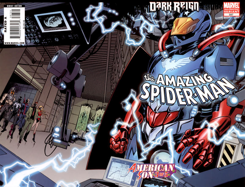 Cover for The Amazing Spider-Man (Marvel, 1999 series) #597 [2nd Printing Variant]