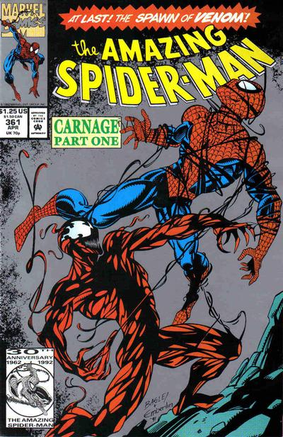 Cover for The Amazing Spider-Man (Marvel, 1963 series) #361 [Second Printing]