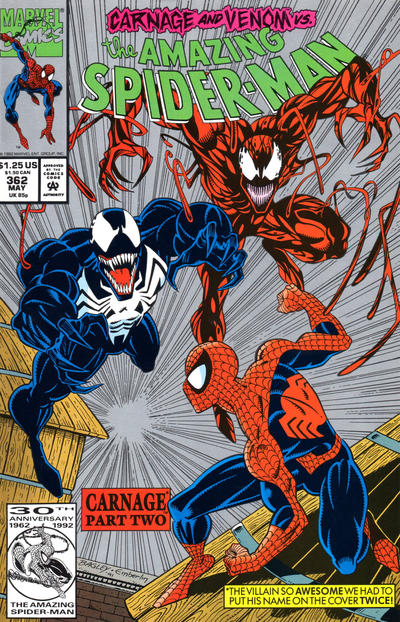 Cover for The Amazing Spider-Man (Marvel, 1963 series) #362 [Direct Edition]