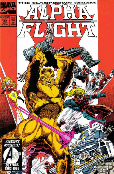 Cover for Alpha Flight (Marvel, 1983 series) #120