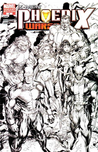 Cover for X-Men: Phoenix - Warsong (Marvel, 2006 series) #1 [Black-and-White Variant Edition]