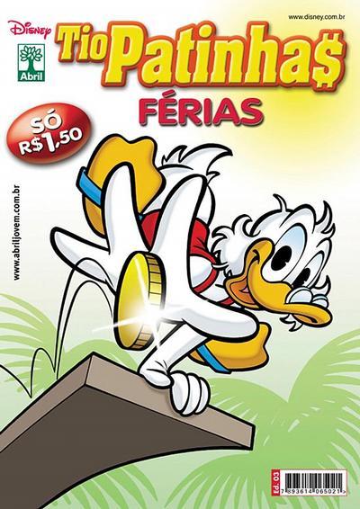 Cover for Tio Patinhas Férias (Editora Abril, 2008 series) #3