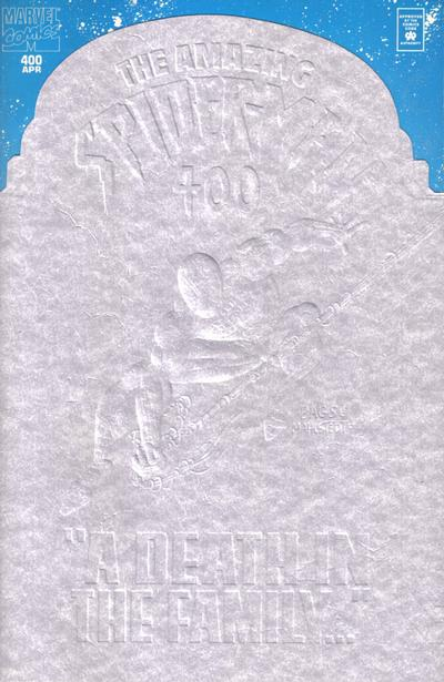 Cover for The Amazing Spider-Man (Marvel, 1963 series) #400 [Embossed Tombstone Cover]