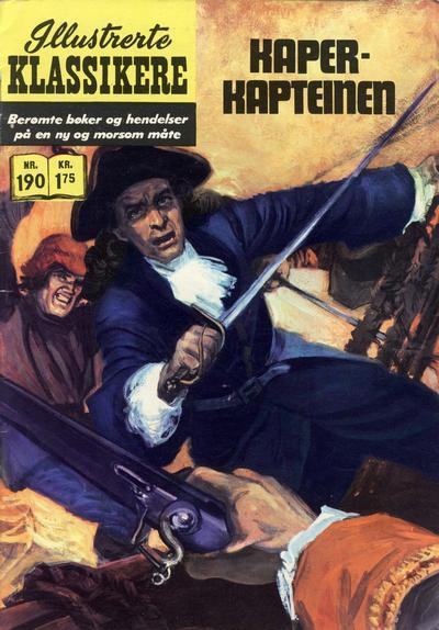 Cover for Illustrerte Klassikere [Classics Illustrated] (Illustrerte Klassikere / Williams Forlag, 1957 series) #190 - Kaperkapteinen