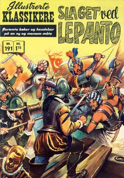 Cover for Illustrerte Klassikere [Classics Illustrated] (Illustrerte Klassikere / Williams Forlag, 1957 series) #191 - Slaget ved Lepanto
