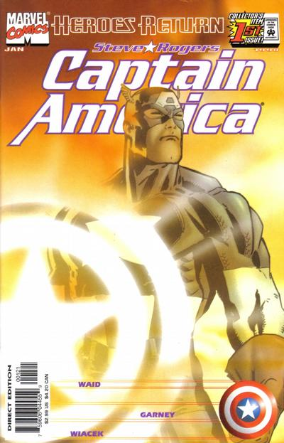 Cover for Captain America (Marvel, 1998 series) #1 [Direct Edition]