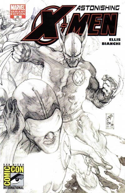 Cover for Astonishing X-Men (Marvel, 2004 series) #25 [Dynamic Forces Variant sketch by Alex Ross]