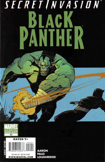 Cover for Black Panther (Marvel, 2005 series) #40 [Second Printing]