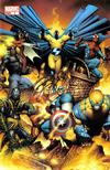Cover for New Avengers (Marvel, 2005 series) #1 [Joe Quesada 2nd Printing Variant]