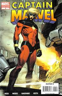Cover Thumbnail for Captain Marvel (Marvel, 2008 series) #1 [Second Printing]