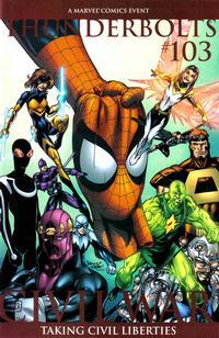 Cover Thumbnail for Thunderbolts (Marvel, 2006 series) #103 [Mark Bagley 2nd Printing Variant]