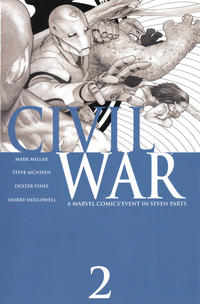 Cover Thumbnail for Civil War (Marvel, 2006 series) #2 [Third Printing]