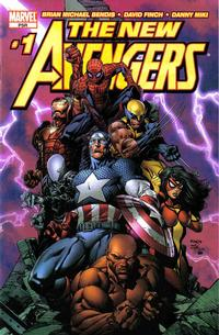 Cover Thumbnail for New Avengers (Marvel, 2005 series) #1 [David Finch 2nd Printing Variant]