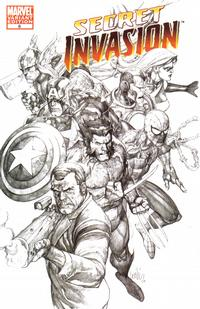 Cover Thumbnail for Secret Invasion (Marvel, 2008 series) #8 [Limited Sketch Variant]