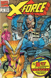 Cover Thumbnail for X-Force (Marvel, 1991 series) #1 [2nd Printing Variant Cover]