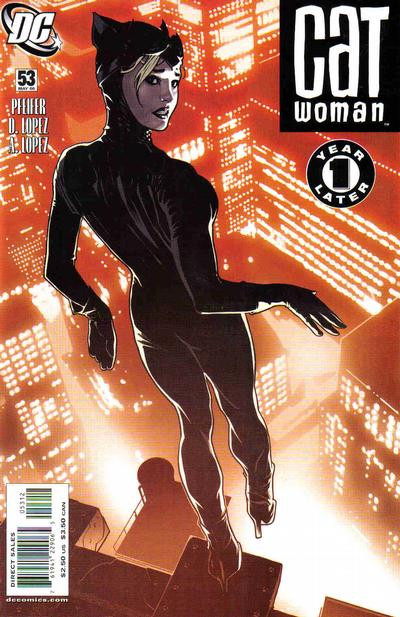 Cover for Catwoman (DC, 2002 series) #53 [2nd Printing]
