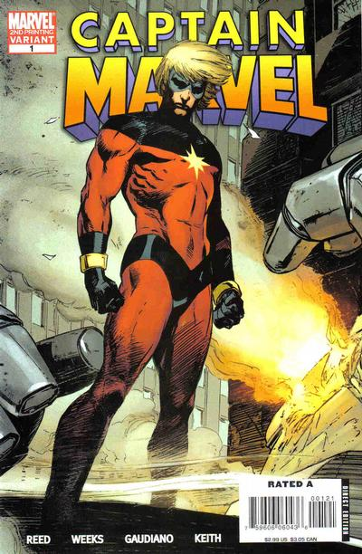 Cover for Captain Marvel (Marvel, 2008 series) #1 [First Printing]